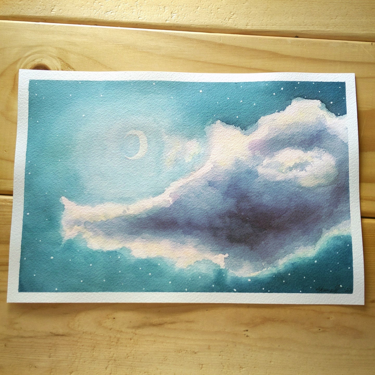 Painting A Moonlit Cloud