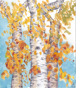 Dancing Birch - Art Print
