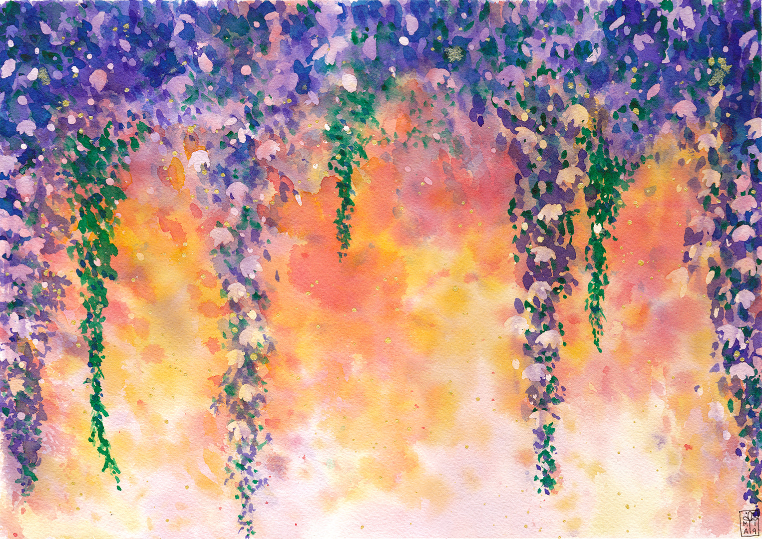 Dripping In Blooms - Art Print
