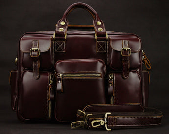 High-Quality Executive Luxury Genuine leather tote travel bags