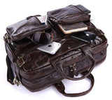High Quality 100% Guarantee Real Genuine leather Men's Backpacks Business Travel Bag Portfolio