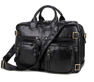 100% Guarantee Real Genuine Leather Men Messenger Bags (14'' Laptop Briefcase)