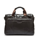 Genuine cowhide leather Briefcase Laptop Business vintage travel bags