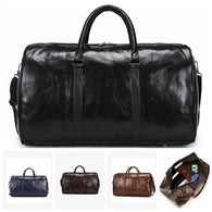 Leather Travel Bag Large Duffle Independent Big Fitness Bags Handbag