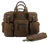 Genuine Leather Luggage Travel Duffel Bag