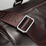 100% Genuine Real Leather Travel Bags for Men Large Capacity Portable Shoulder Bags