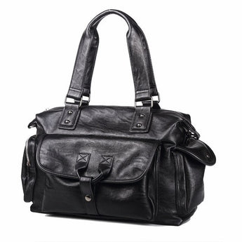 Male England Travel Retro Shoulder Leather Bag
