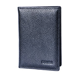 Genuine cow leather high quality brand travel passport holder card case