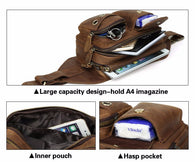Genuine Crazy Horse Leather Waist Vintage Style Fanny Pack Travel Small Bag