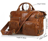 Genuine Leather Travel Laptop Backpack Multifunction Business Bag