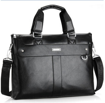 Casual Shoulder Business Briefcase PU Leather Messenger Bag Computer Laptop Handbag Bag Travel Bags