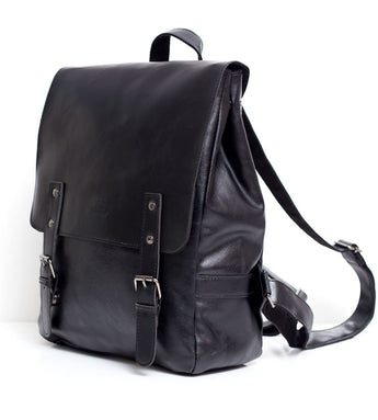 High Quality England Vintage Style PU Leather Men Backpacks