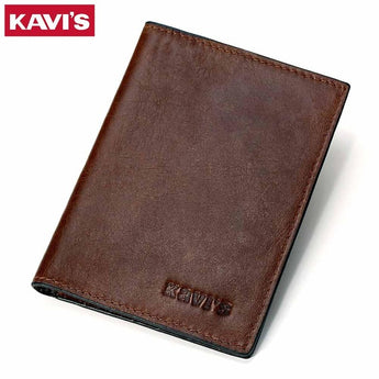 Genuine Leather Passport Cover ID Business Card Holder Travel Credit Wallet for Men Purse Case Driving License Bag Thin