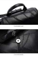 3Pcs/set Genuine Leather Women Fashion Travel Composite Bags Casual School Backpack