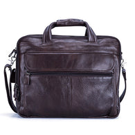 Fashion Genuine Leather Office Handbag Business Casual Men's Travel 17