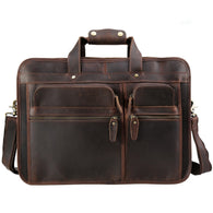 Handbag real leather new European vintage brand travel shoulder crossbody briefcase bags
