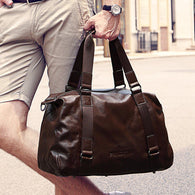 Fashionable business travel luggage GENUINE LEATHER High-capacity sling bag