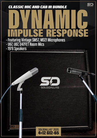 SoloDallas® updated 2020 4x12 G12-65 Dynamic Impulse Response Bundle