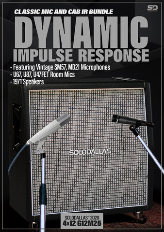 SoloDallas® updated 2020 4x12 G12M25 Dynamic Impulse Response Bundle