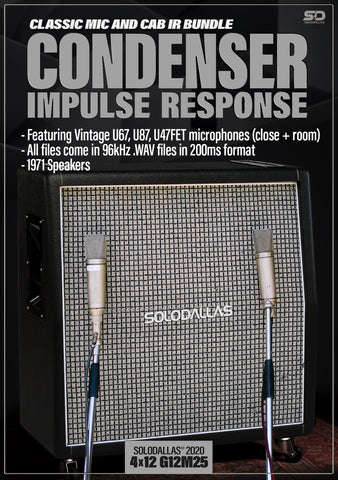 SoloDallas® updated 2020 4x12 G12M25 Condenser Impulse Response Bundle