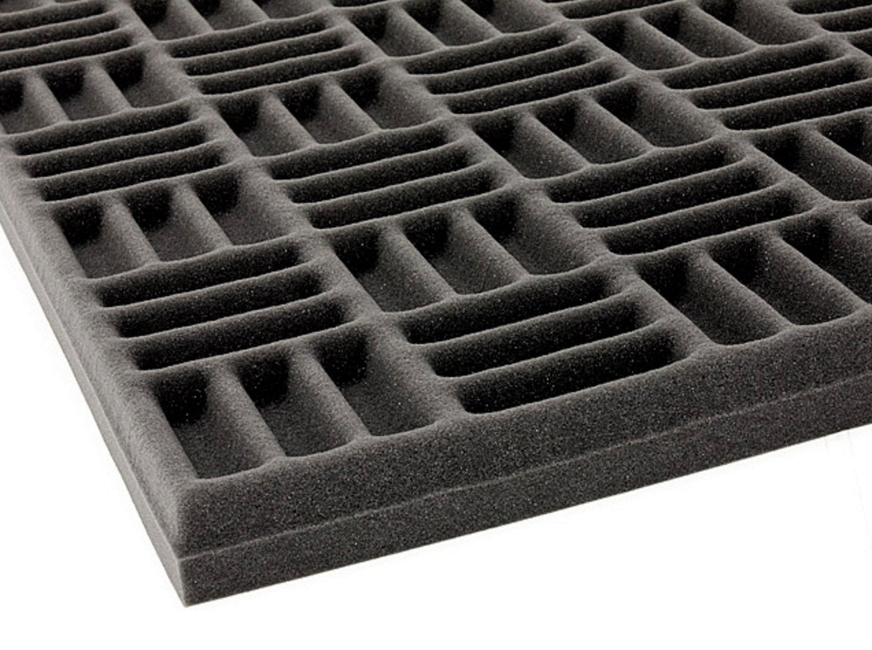 "Acoustic Grid Soundproofing Foam 69""x45""x2"" (2 Pack)"