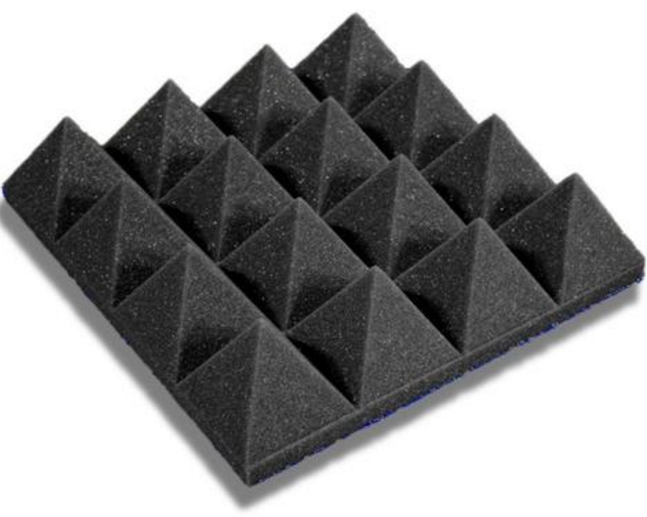 "Acoustic Pyramid Foam 4"" (Various Colors & Quantities)"