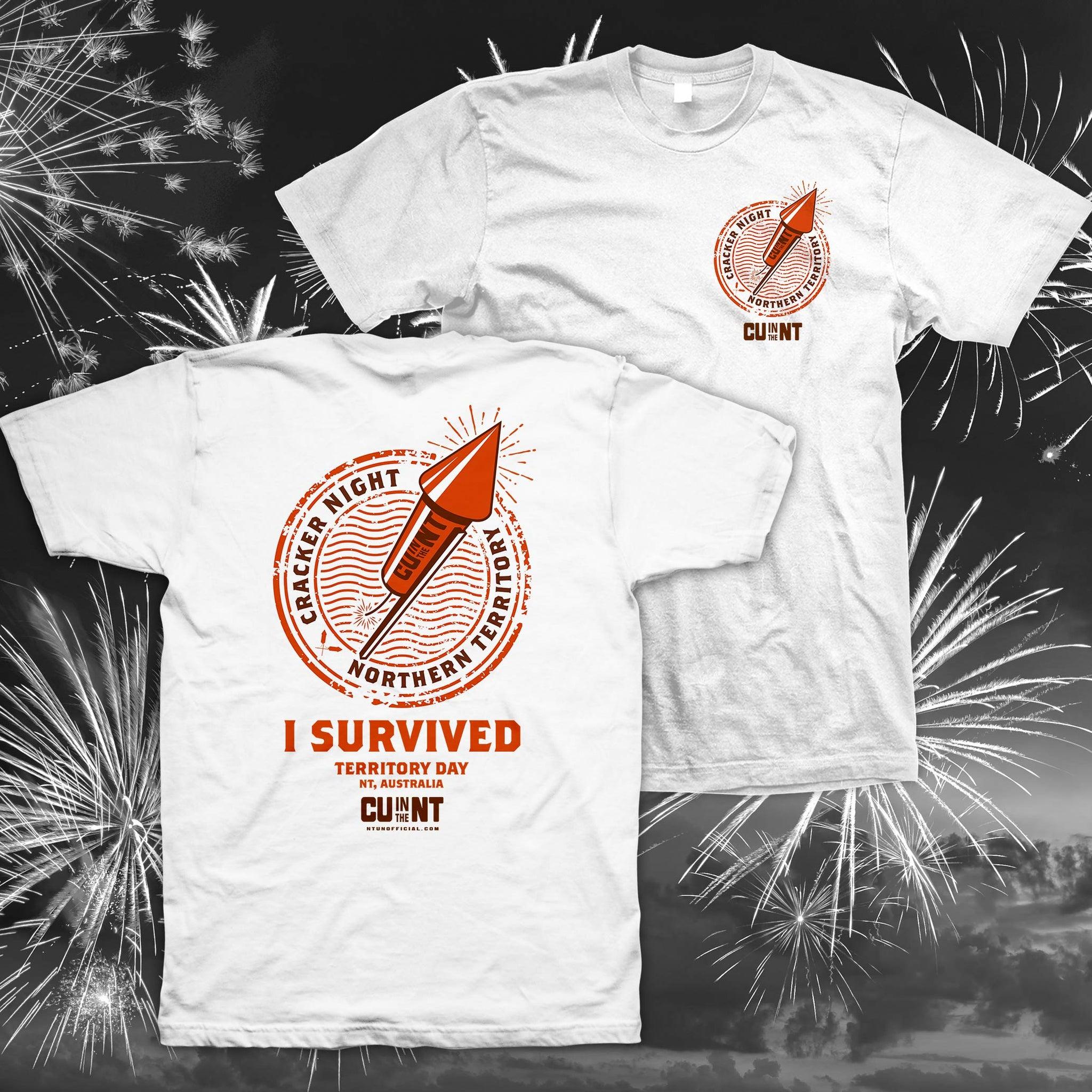 I Survived Cracker Night - White Tee