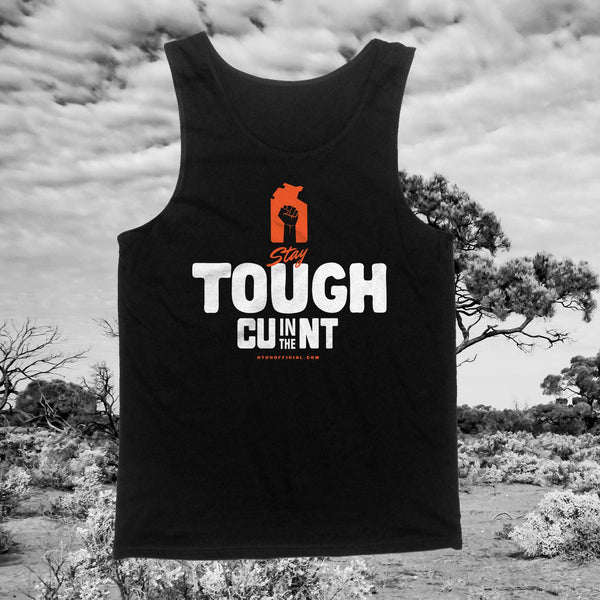 Stay Tough - Black Singlet