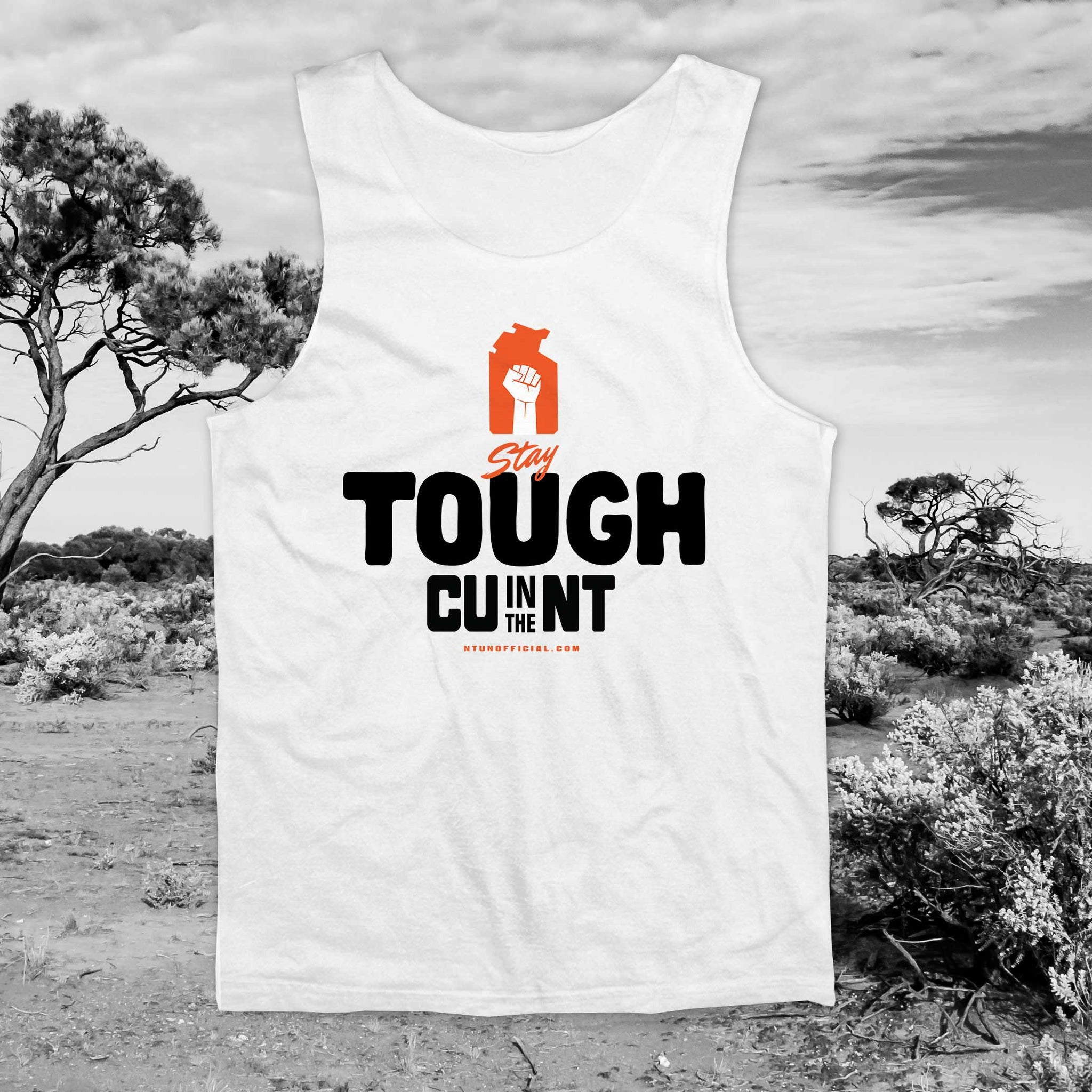 Stay Tough - White Singlet