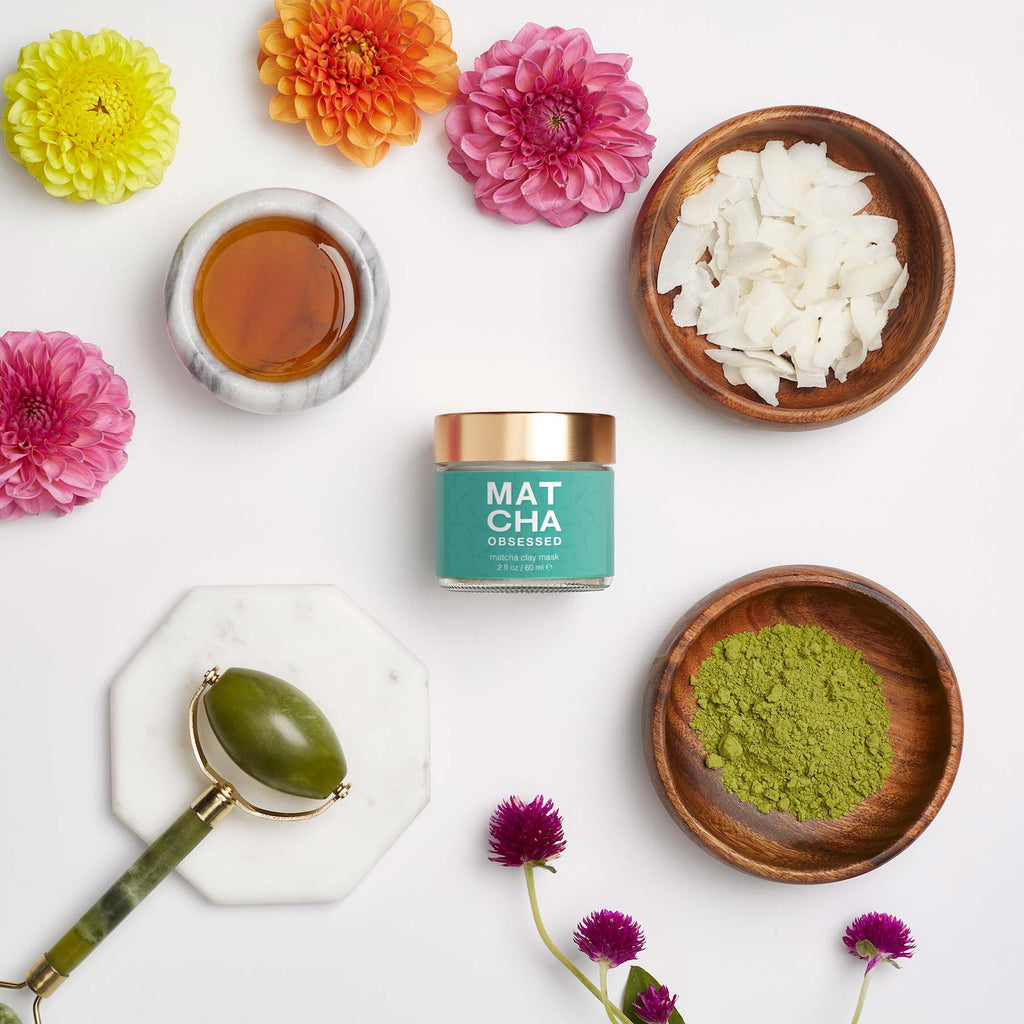 Matcha Obsessed Clay Mask Bundle + Jade Roller (while supplies last!)