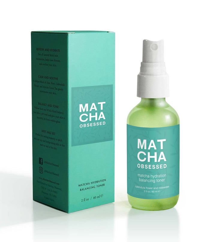 Hydration Toner with Matcha, Rosewater, and Witch Hazel, 2 fl oz