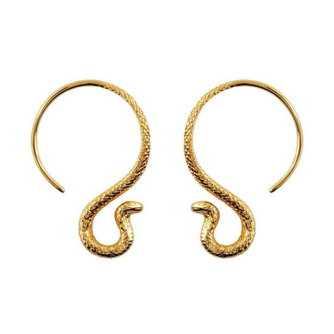 Midsummer Star / Cobra Hoop Earrings - Gold