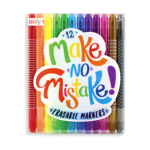 Ooly / Make No Mistake Erasable Markers (Set of 12)