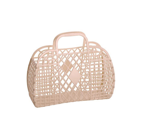 Sun Jellies / Retro Basket (Large) - Latte