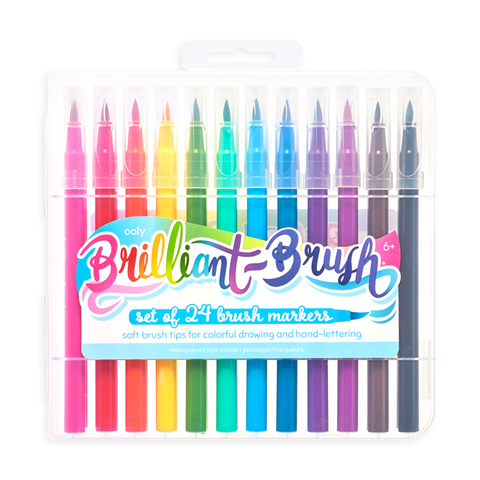 Ooly / Brilliant Brush Markers (Set of 24)