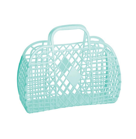 Sun Jellies / Retro Basket (Large) - Mint