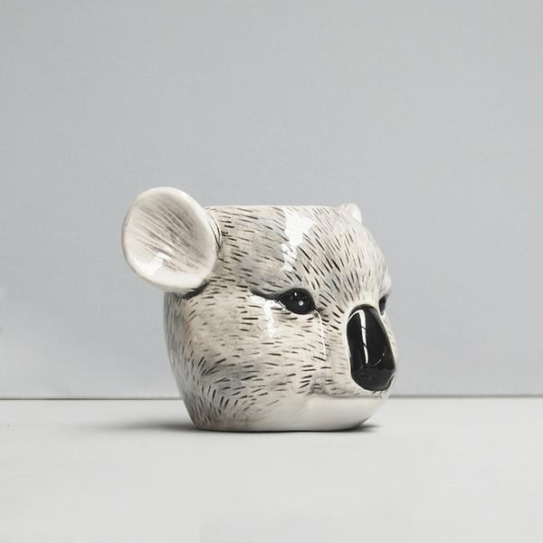 White Moose / Animal Head Pot - Koala