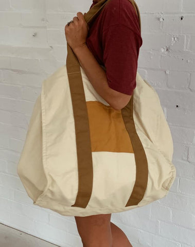 Salty Shadows / Oversized Beach Bag - Goldie