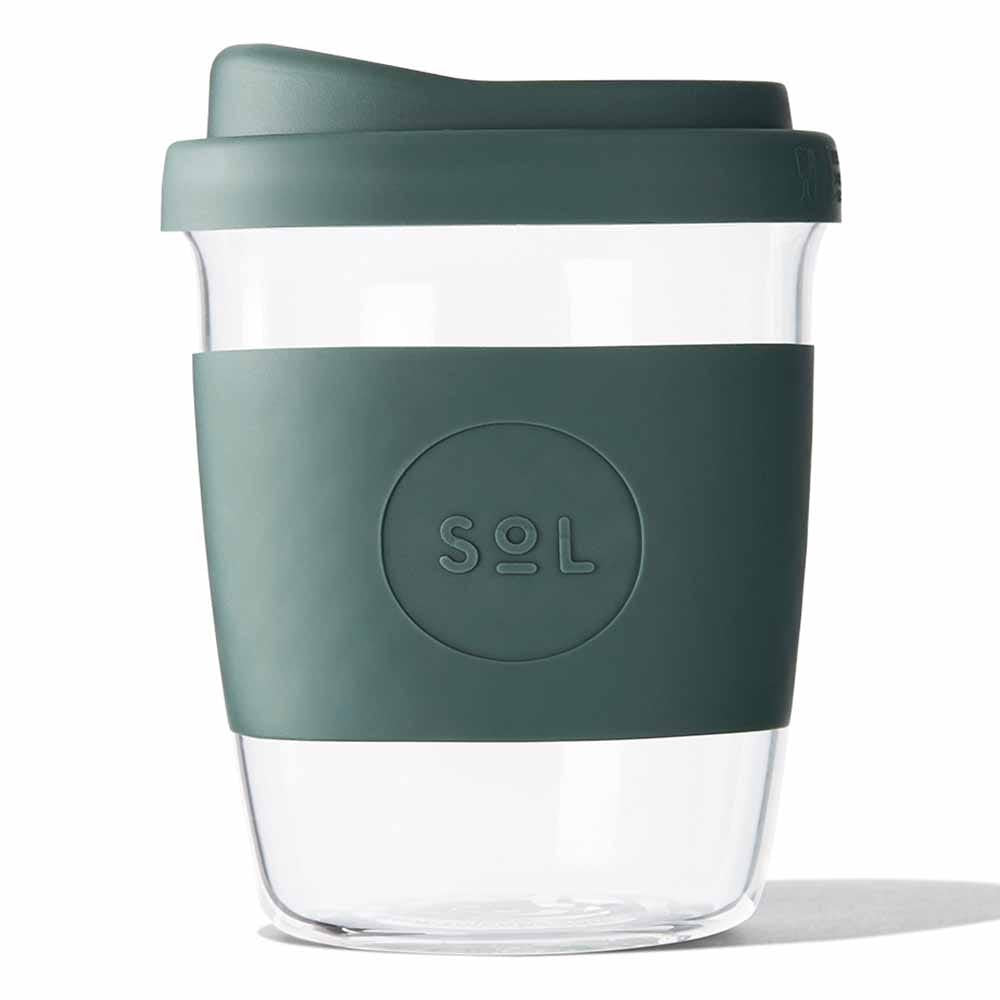 Sol Products / Glass Cup - Deep Sea Green