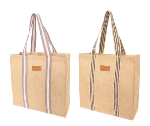 Academy / Coated Jute Grocery Tote