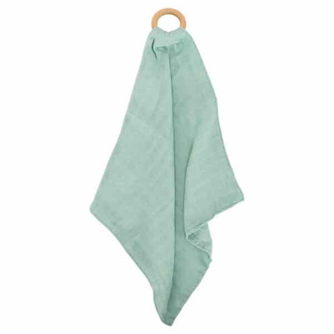 Annabel Trends / Muslin Security Blanket & Teether - Mint
