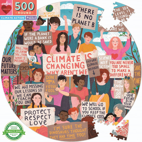 eeBoo / Round Puzzle (500pc) - Climate Action