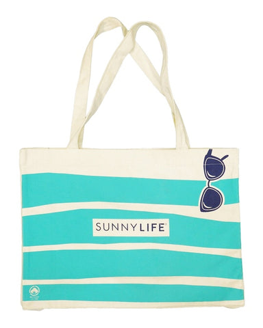Sunnylife / Tote Bag Large - Blue Stripe