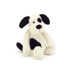 Jellycat / Bashful Black & Cream Puppy (Small)