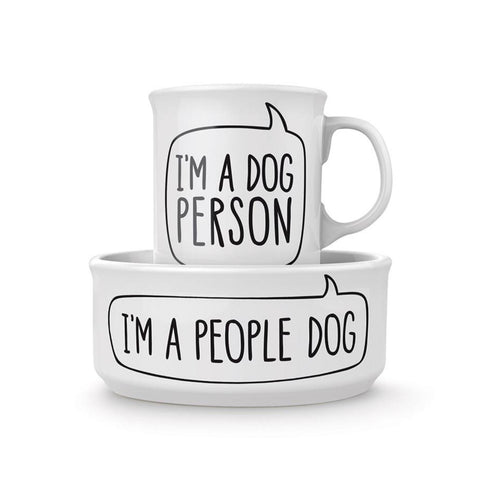 Fred / Dog Person - Bowl and Mug Set