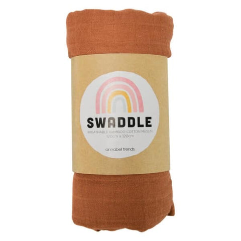 Annabel Trends / Muslin Swaddle - Rust