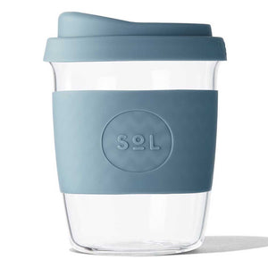 Sol Products / Glass Cup - Blue Stone