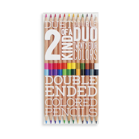 Ooly / 2 Of A Kind Double Ended Coloured Pencils (Set of 12)
