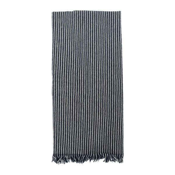 Annabel Trends / Stonewashed Tea Towel - Classic Navy Stripe