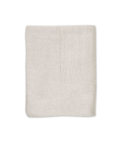 Little Bamboo / Textured Knit Blanket - Silver